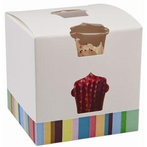 Caja individual para cupcake o magdalena (Lote de 10 cajas) GG230