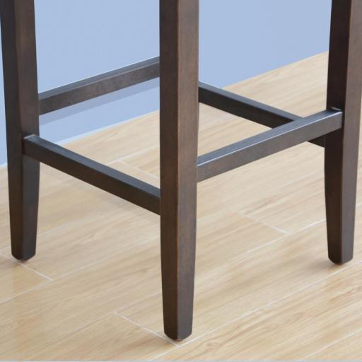 Juego de 2 taburetes altos para bar símil piel marrón Bolero GG649 [3]