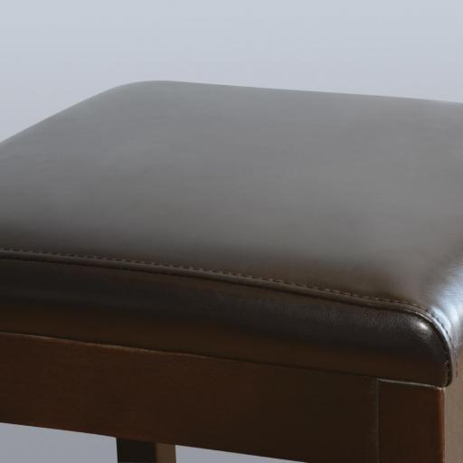 Juego de 2 taburetes altos para bar símil piel marrón Bolero GG649 [2]