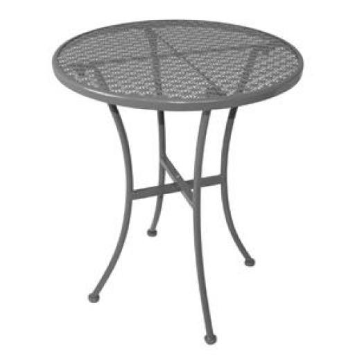 Mesa redonda de acero para terraza gris Bolero 600mm. diámetro GG703