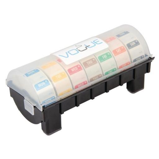 """Conjunto de dispensador y etiquetas adhesivas solubles """"Día de la semana"""" Vogue GH474 [1]"""