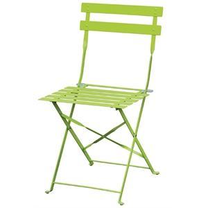 Juego de 2 sillas de acero Bolero verde plegable GH552