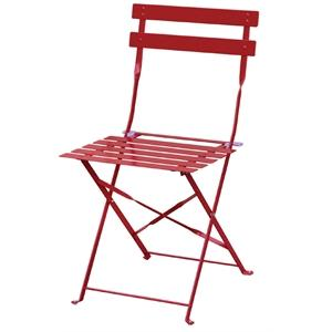 Juego de 2 sillas de acero Bolero roja plegable GH555