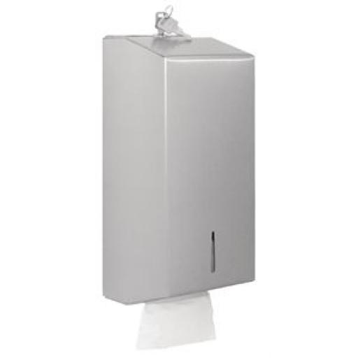 Dispensador de papel higiénico en hoja Jantex acero inoxidable GJ032 [0]