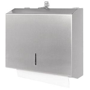 Dispensador de toallas de mano Jantex acero inoxidable GJ033
