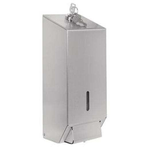 Dispensador de jabón en acero inoxidable Jantex GJ034