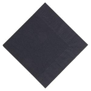 Servilleta tissue 3 capas Duni Lunch negra 330mm. (Caja de 1.000) GJ107