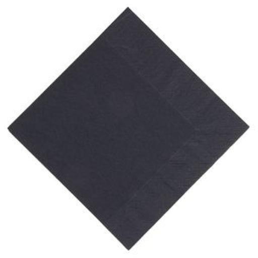 Servilleta tissue 3 capas Duni Lunch negra 330mm. (Caja de 1.000) GJ107 [0]