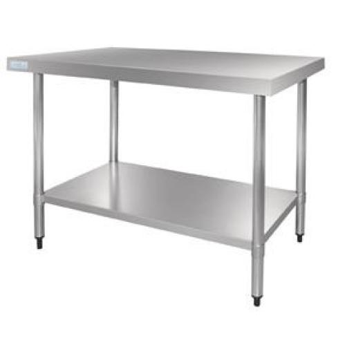 Mesa de acero inoxidable Vogue de 1800mm x 700mm. x 900mm GJ504