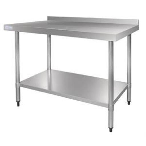 Mesa de acero inoxidable Vogue de 1200mm x 700mm. x 900mm con Peto GJ507
