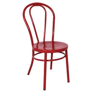 Juego de 2 sillas de acero Bentwood roja Bolero GJ777