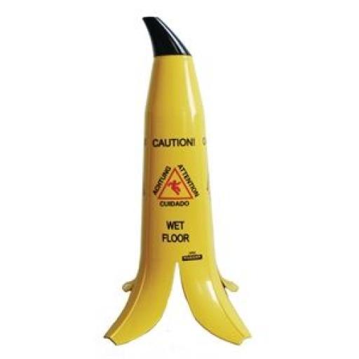 """Señal de precaución """"Suelo mojado"""" en forma de plátano Banana Products GK976"""