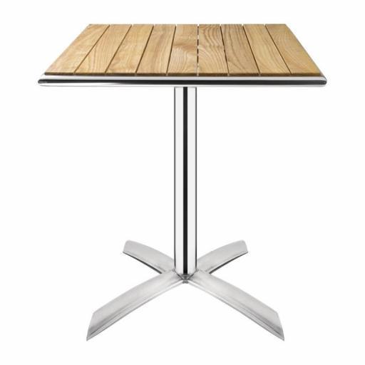Mesa cuadrada con madera de fresno abatible Bolero 600mm GK991