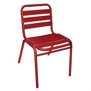 Juego de 4 sillas de aluminio Bolero