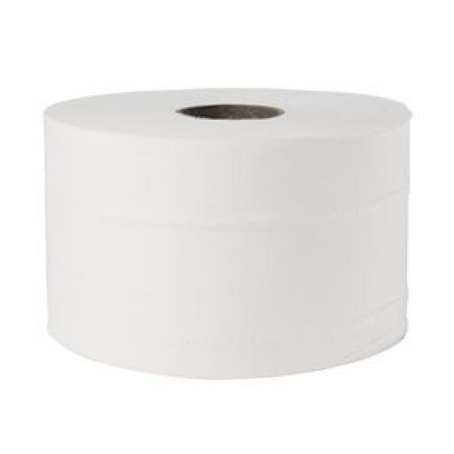 Rollo papel higiénico 125m. doble capa para portarrolos Jantex Micro GL062 (Caja de 24 rollos) GL063