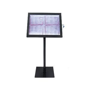Expositor LED Securit negro GL110