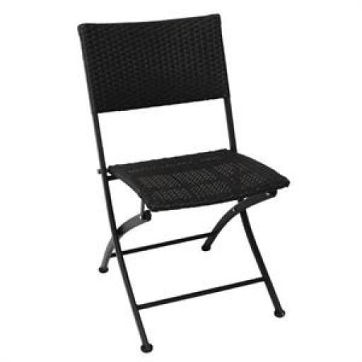 Juego de 2 sillas plegables de polietileno imitación ratán Bolero GL303