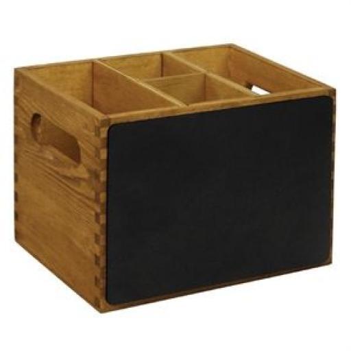Caja de madera Olympia con lado de pizarra GM243 [1]
