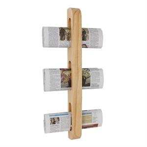 Organizador de madera vertical para prensa y revistas Olympia GM256