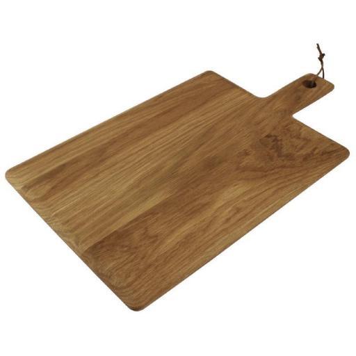 Tabla rectangular de madera de roble con mango Olympia GM261 [1]