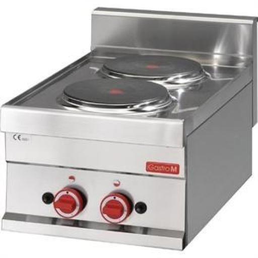 Cocina eléctrica de dos placas 60/30 PCE línea 600 Gastro M GN017