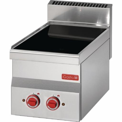 Cocina vitrocerámica de 2 fuegos 60/30PVE línea 600 Gastro M GN019