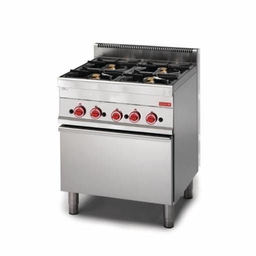 Cocina a gas de 4 fuegos y horno 65/70CFG línea 650 Snack Gastro M GN047