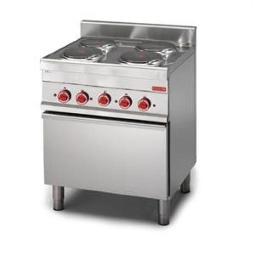 Cocina eléctrica de 4 placas y horno de convección 65/70CFE línea 650 Gastro M GN053 [0]