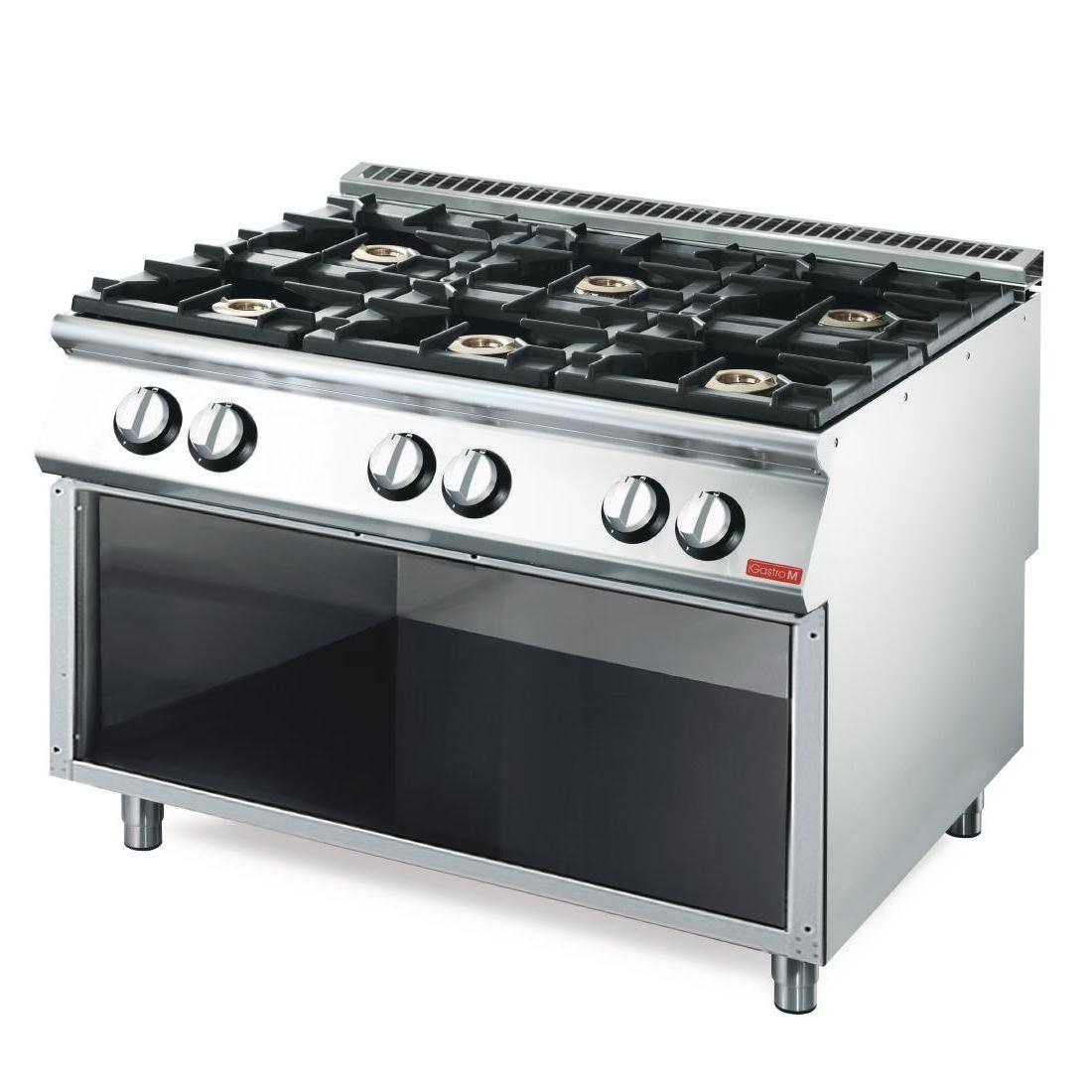 Cocina a Gas de 6 fuegos VS70/120PCG Línea 700 Gastro M GN082
