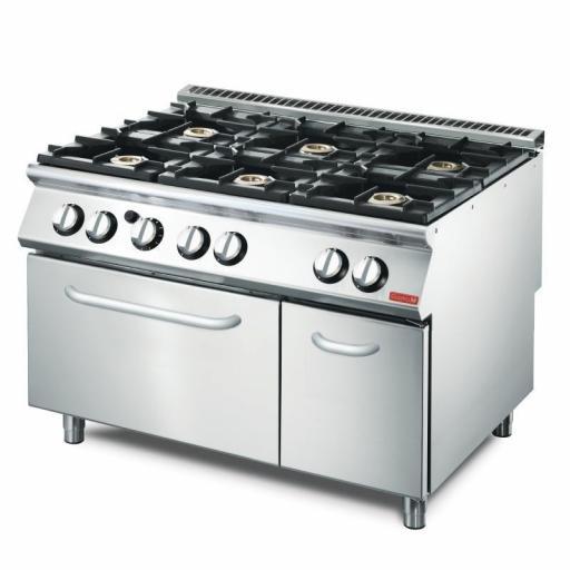 Cocina a gas de 6 fuegos y Horno Línea 700 Gastro-M VS70/120CFG GN083 [0]
