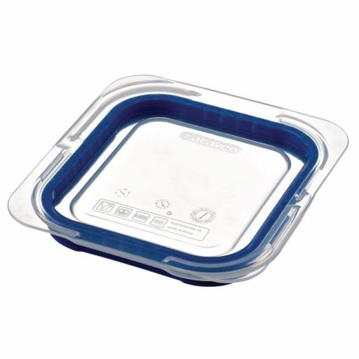 Tapa para contenedor Gastronorm 1/6 color Azul Araven GP573
