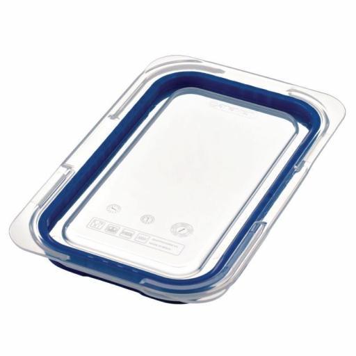 Tapa para contenedor Gastronorm 1/4 color azul Araven GP577