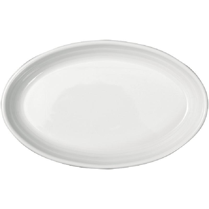 Juego de 4 rabaneras de porcelana blanca Intenzzo 170x110mm GR019