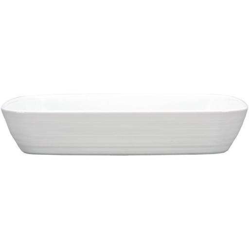 Rustidera rectangular de porcelana blanca Intenzzo GR022
