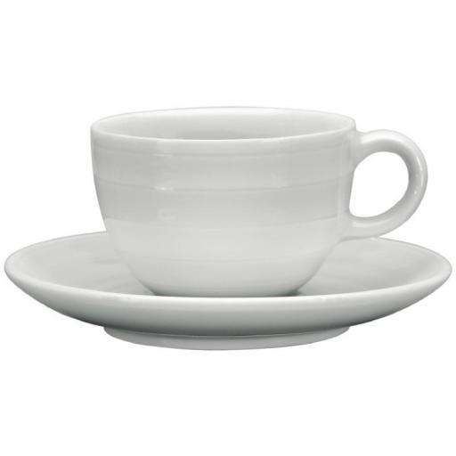 Juego de 4 tazas y platos de porcelana blanca Intenzzo 110ml café solo GR031