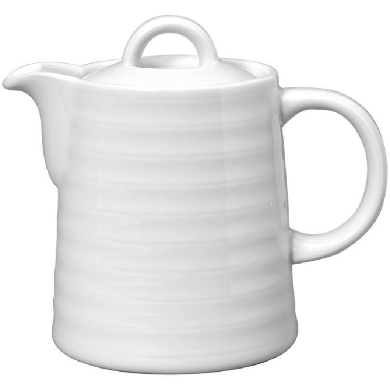 Cafetera de porcelana blanca Intenzzo