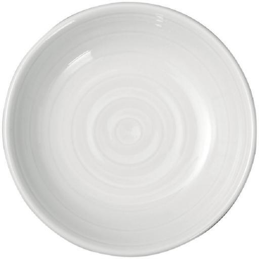 Juego de 4 mantequeras de porcelana blanca Intenzzo GR041