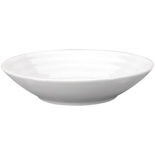 Juego de 4 cuencos de porcelana blanca Intenzzo para tapas 130x30mm GR044