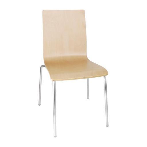 Juego de 4 sillas apilables con respaldo cuadrado Bolero