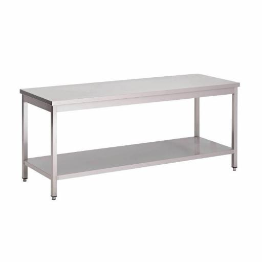 Mesa de acero inoxidable AISI304 con estante 1600x700mm Gastro M GS035
