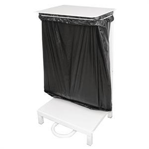 Soporte sujeta sacos de basura Jantex acero blanco L548