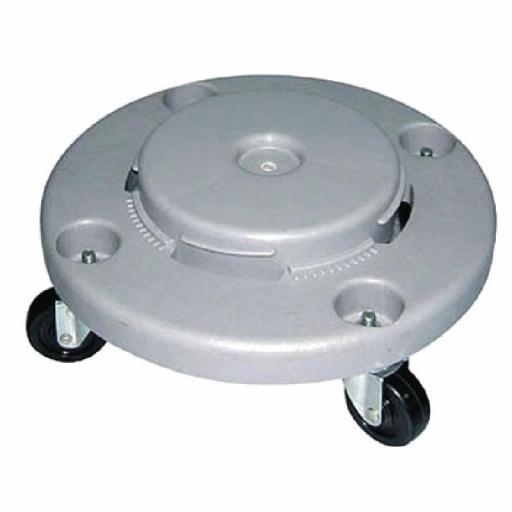 Plataforma con ruedas para papelera Jantex L645