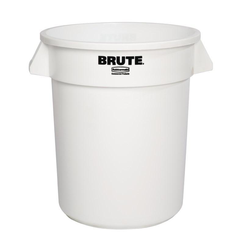 Contenedor redondo para residuos blanco Brute Rubbermaid
