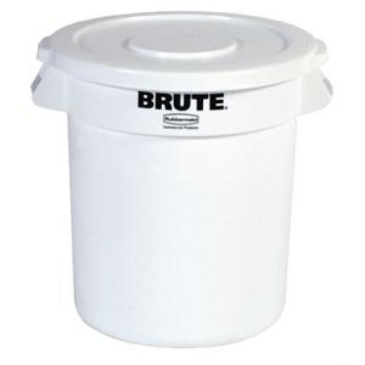 Contenedor redondo para residuos blanco Brute Rubbermaid [1]