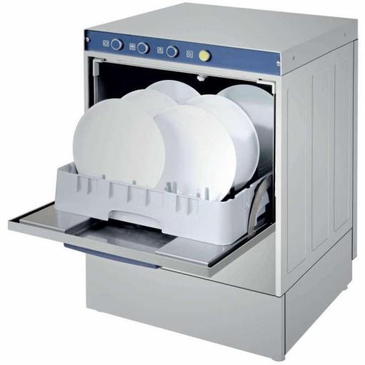 Lavavajillas industrial con bomba de desagüe y cesta de 50x50cm modelo Estambul CH500ECOB