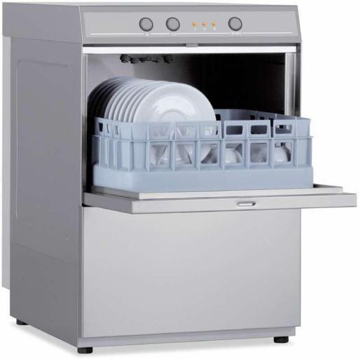 Lavavasos industrial con cesta de 35x35cm fabricación italiana Línea Verona CH350