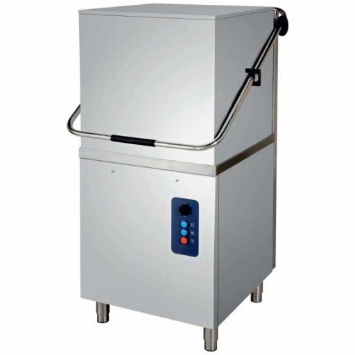 Lavavajillas industrial tipo capota con cesta de 50x50cm trifásico modelo Estambul CH800ECO