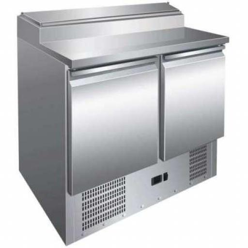 Mesa fría de preparación de ingredientes de 2 puertas GN1/1 Pekin PS200