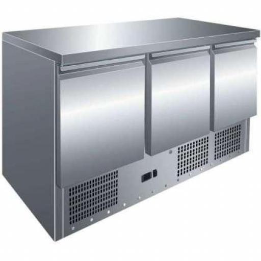 Mesa refrigerada de 3 puertas compatible GN1/1 Pekin S903TOP