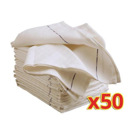 Juego de 50 paños de algodón para camarero de sala Vogue S114